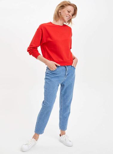 DeFacto Rahat Kalıp Sweatshirt Kırmızı